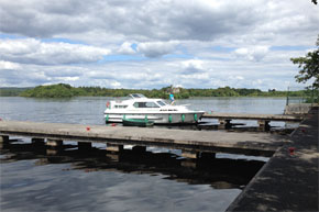 Shannon Boat Hire Gallery - Lake Star moored a Lough Key