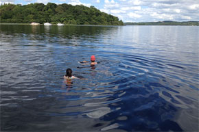 Shannon Boat Hire Gallery - A great day for a dip in the Lake