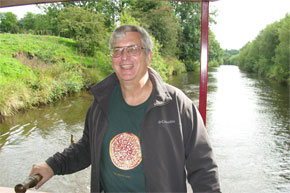 Shannon Boat Hire Gallery - Steering a Folk Class on the Shannon-Erne Waterway