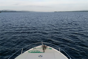 Shannon Boat Hire Gallery - Lough Derg from the bow of a Shannon Star