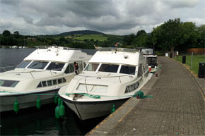 Shannon Boat Hire Gallery - A brace of Shannon Stars moored for the night