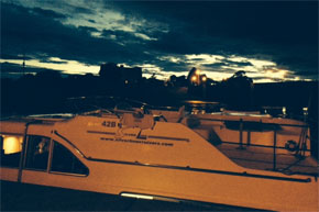 Shannon Boat Hire Gallery - Silver Spirit moored for the night