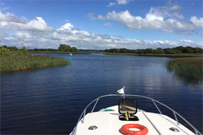 Shannon Boat Hire Gallery - View of the Shannon Erne Waterway from a Caprice Cruiser