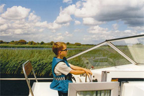 Shannon Boat Hire Gallery - Ole Rudolph, Captain of the Lake Star!