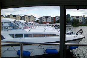 Shannon Boat Hire Gallery - Cruising out of the base in Carrick-on-Shannon