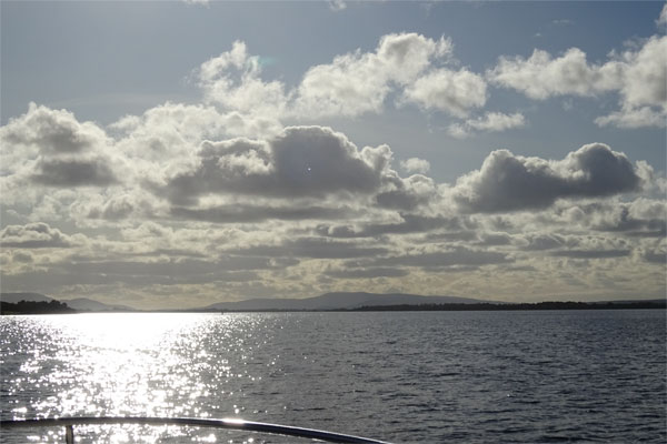 Shannon Boat Hire Gallery - Crossing Lough Derg on a Town Star