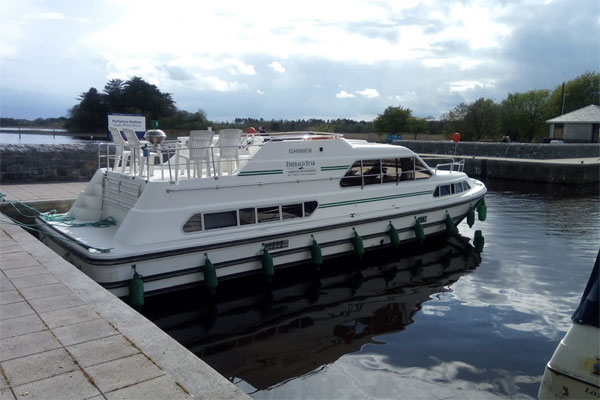 Shannon Boat Hire Gallery - Moored at Portumna Harbour