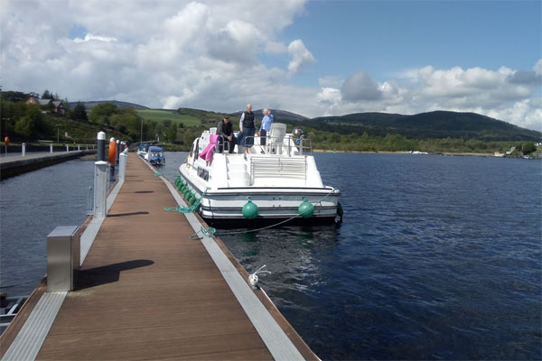 Shannon Boat Hire Gallery - Moored at Lough Derg