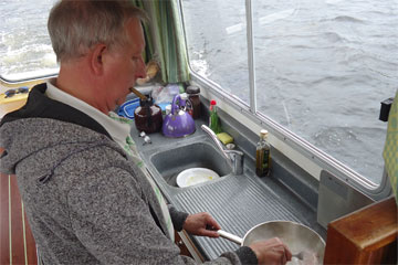 Shannon Boat Hire Gallery - Cooking up a storm