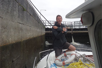 Shannon Boat Hire Gallery - Taking a P935W through a lock.