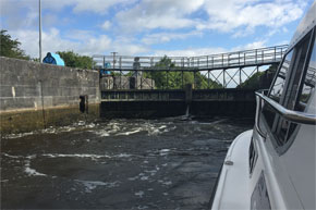 Taking a Carlow Class through a lock