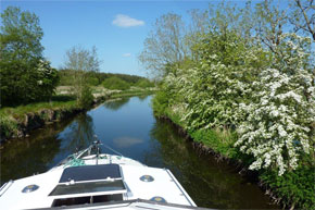 Shannon Boat Hire Gallery - A leisurely cruise on the canal