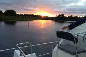 Sunset on the Shannon-Erne Waterway