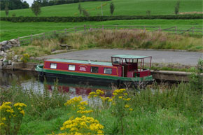 Dutch Class moored on the Shannon-Erne Waterway