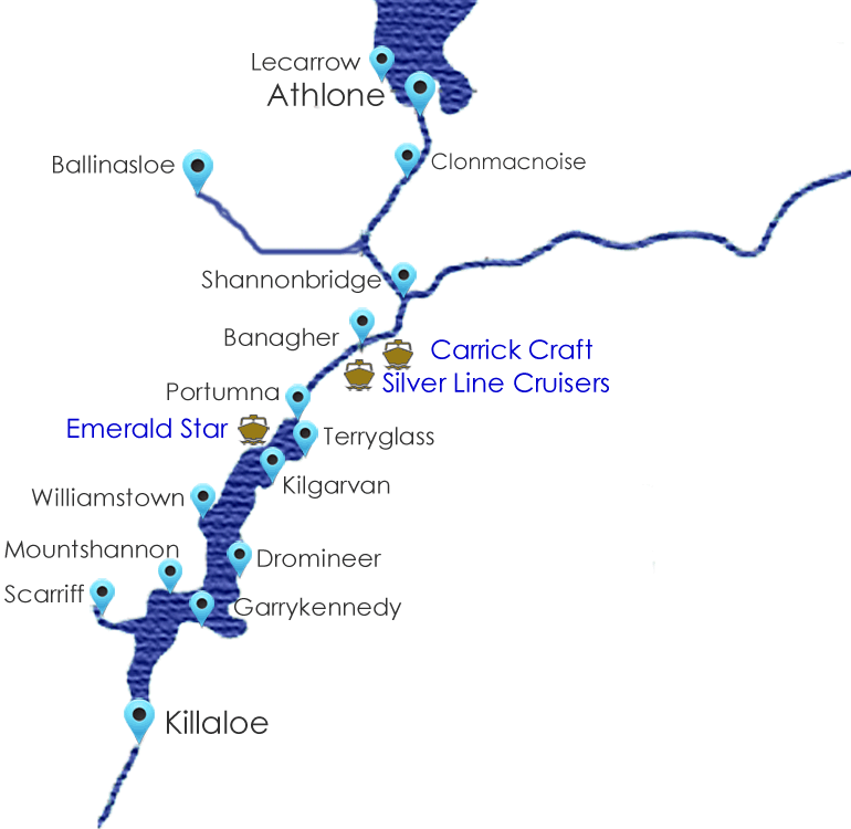 Lower Shannon Cruising Guide Map