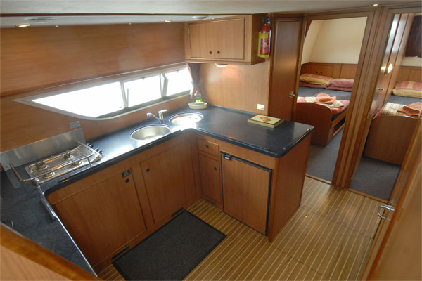 The Galley on the Silver Breeze Cruiser