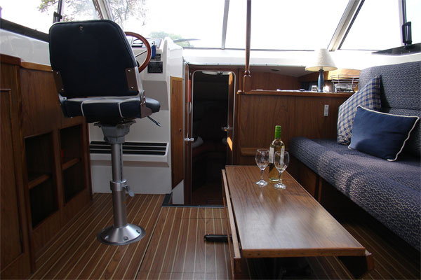 The saloon on the Noble Cadet.