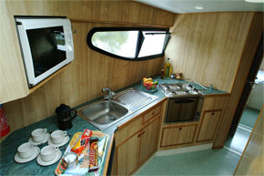 The Galley on the Caprice.