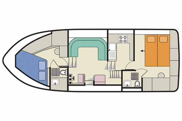 Layout of the Clipper hire boat