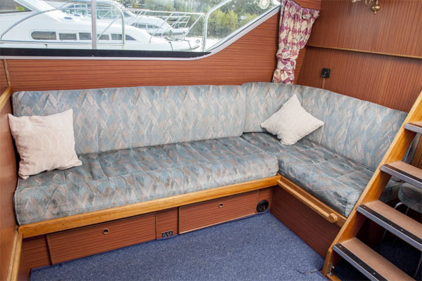 The Saloon on the Silver Crest Cruiser.