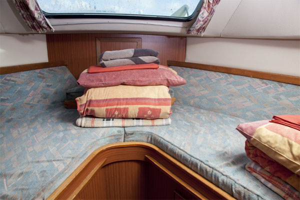 Forward sleeping cabin on the Silver Crest Cruise.