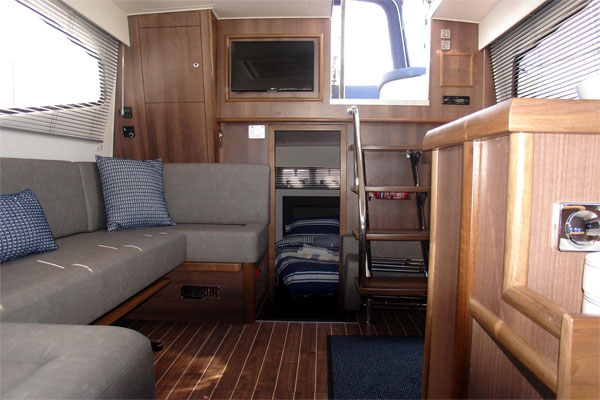 Saloon on the Noble Duchess Hire Boat