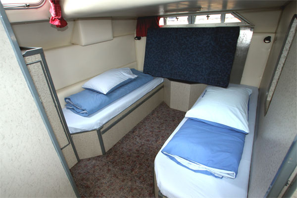 The Aft Cabin on the Wave Earl Cruiser