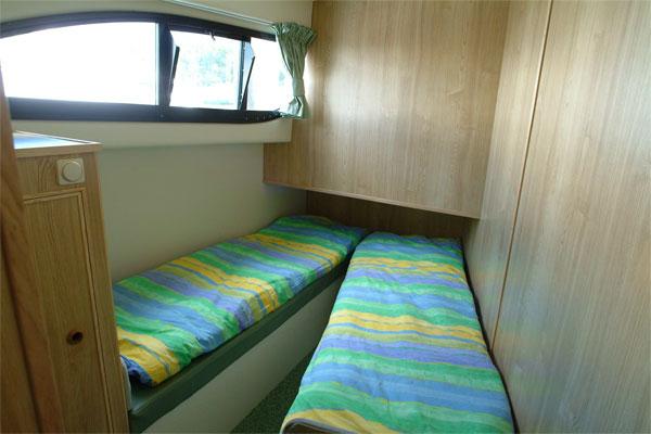 Forward cabin in the Elegance Cruiser.