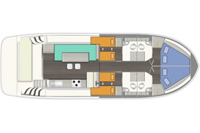 Layout of the Horizon 4 hire cruiser.