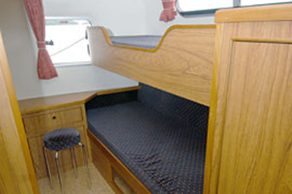 Bunk Berths on the Inver Countess Hire Cruiser