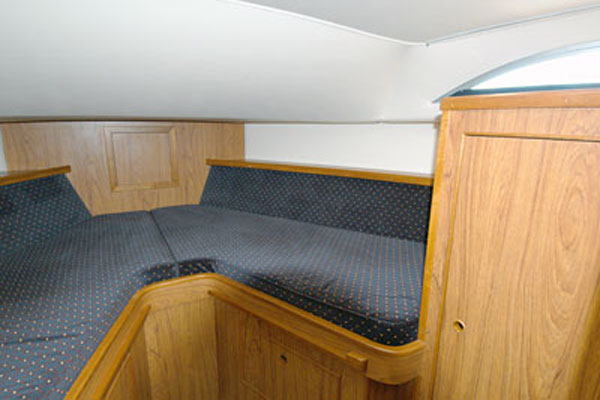 Bow Cabin on the Inver Countess Hire Cruiser