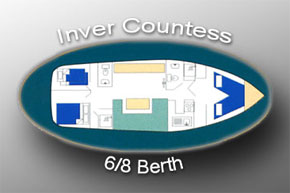 Layout plan of the Inver Countess Hire Cruiser