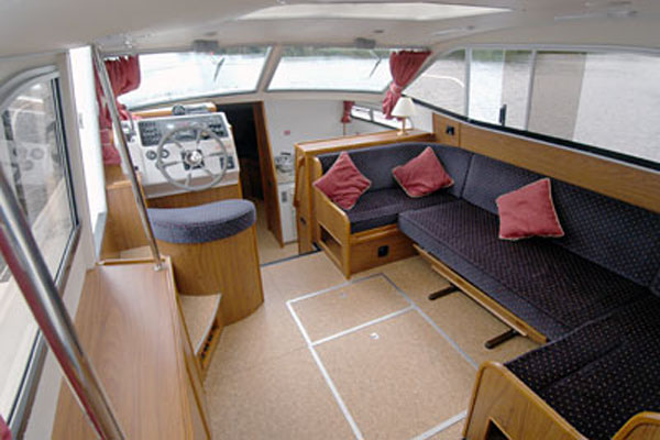 Saloon on the Inver Countess Hire Cruiser