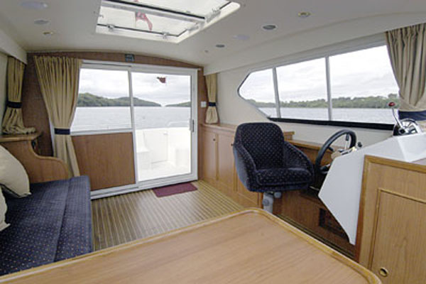 Saloon on the Inver Prince 2+2 berth hire boat
