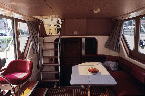 Saloon on the P1165 FB Penichette Hire Boat
