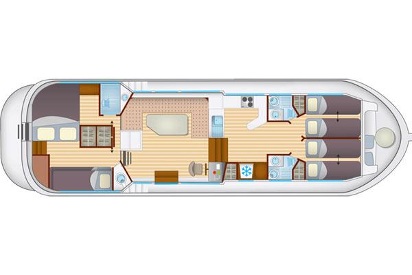 Plan of the P1400 Flying Bridge