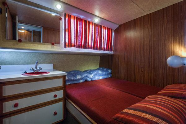 Cabin on the P1500R Penichette Hire Boat