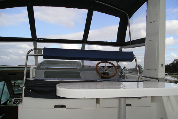 Flybridge on the Silver Legend Hire Boat.