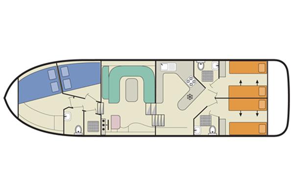 Plan of the Magnifique Cruiser.
