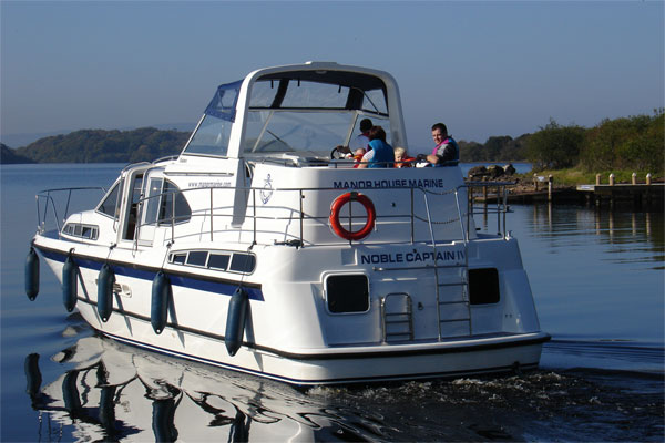 Rear view of the Noble Captain Shannon River Cruiser