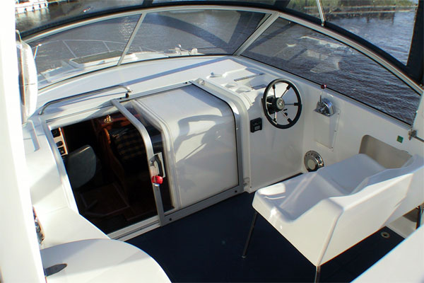 Outside Steering on the Fly Deck of the Noble Duke Hire Cruiser