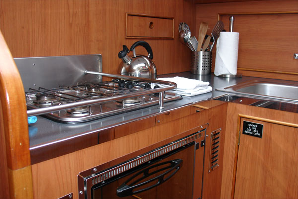 The Noble Duke Hire Boat Galley.