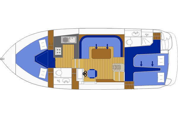 Plan of the Noble Duke Hire Boat