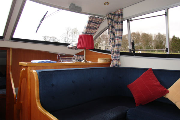 Saloon on the Noble Duke Hire Cruiser Ireland