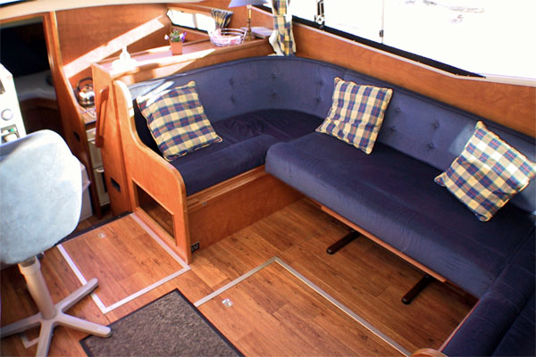 The Saloon on the Noble Duke Hire Boat