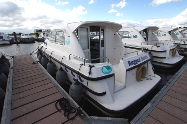 The rear deck on the Wave Princess Cruiser - Shannon River Boat hire Ireland.