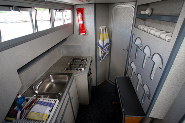The Galley on the Wave Queen Cruiser - Shannon River Boat hire Ireland.