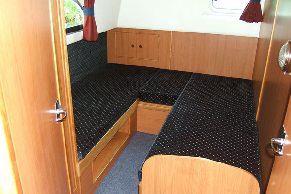 The Aft Cabin on the Roscommon Cruiser.