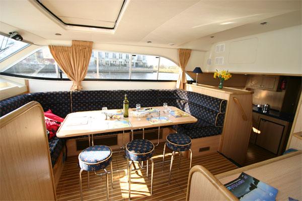 The Saloon on the Roscommon Class Cruiser.