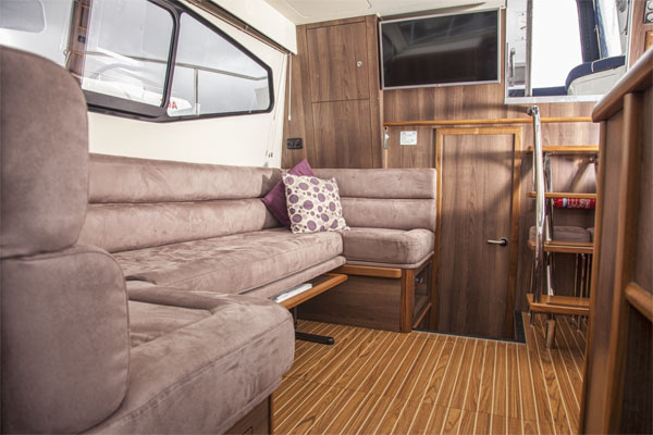 Saloon on the Silver Shadow Hire Cruiser